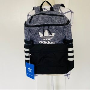 ADIDAS | GRAY AND BLACK BACKPACK- new with tags